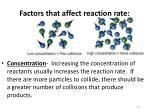 factors that affect reaction rate1