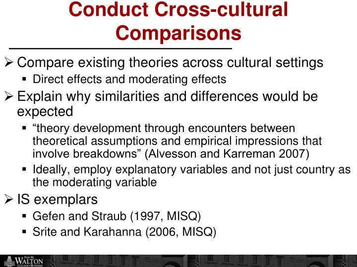 Conduct Cross-cultural Comparisons
