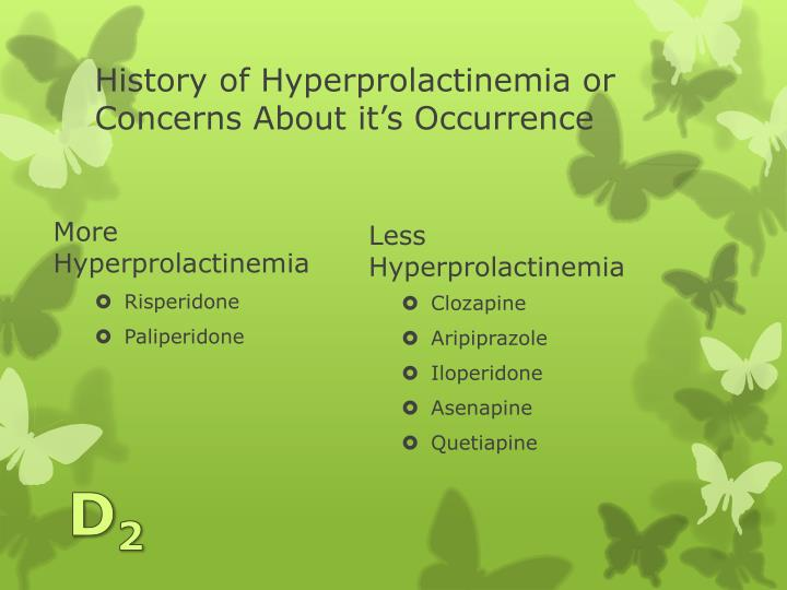 History of Hyperprolactinemia or Concerns About it's Occurrence