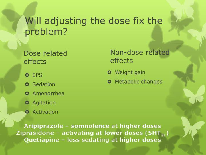 Will adjusting the dose fix the problem?