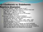 12 1 exothermic vs endothermic reactions examples