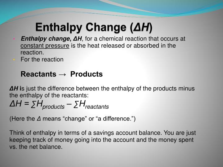 Enthalpy Change (