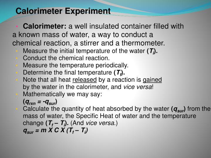Calorimeter: