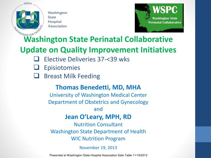 Washington State Perinatal Collaborative