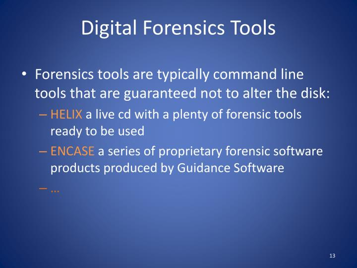Digital Forensics Tools