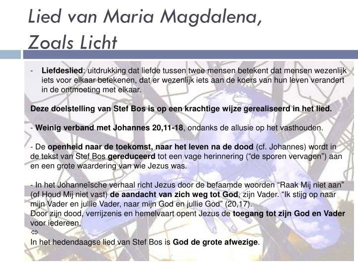 Maria Magdalena Lied
