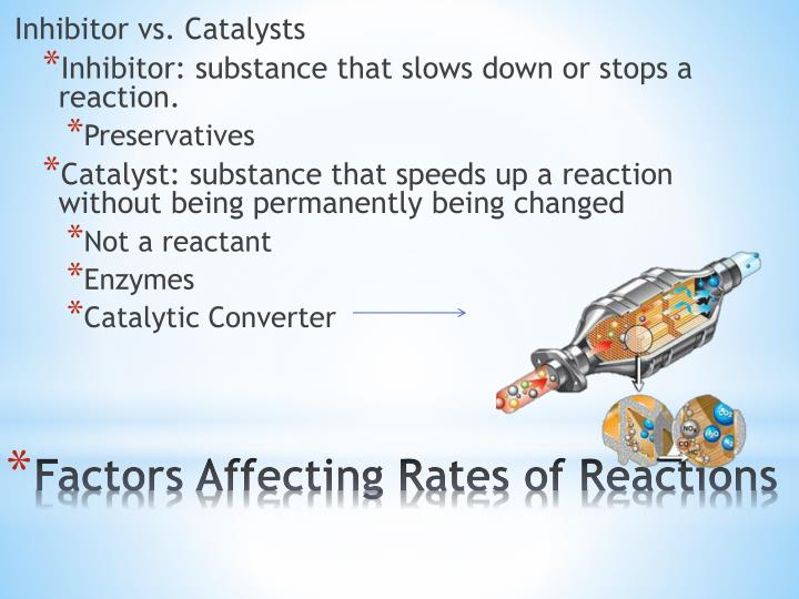 Inhibitor vs. Catalysts