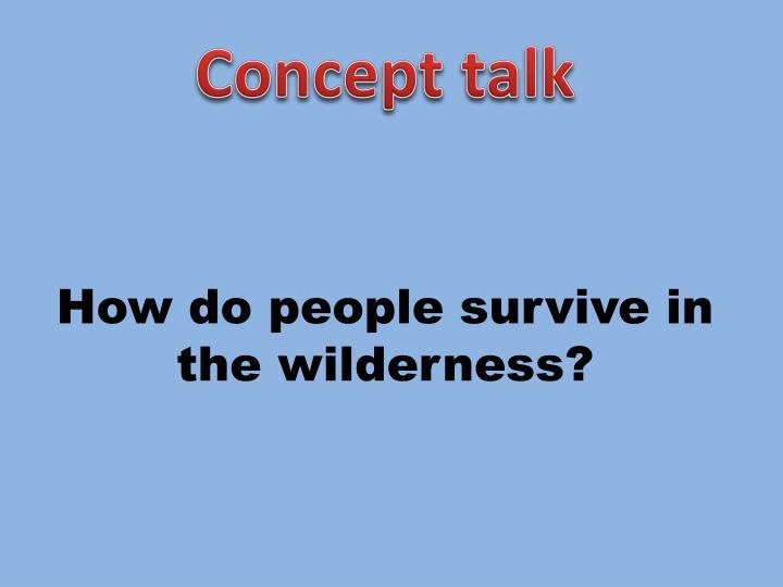 Concept talk