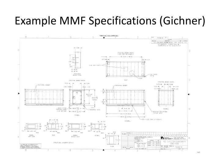 Example MMF Specifications (Gichner)