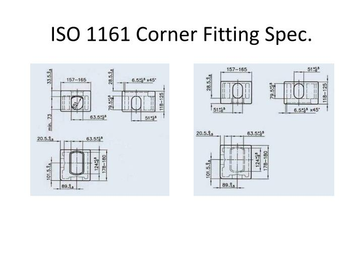 ISO 1161 Corner Fitting Spec.