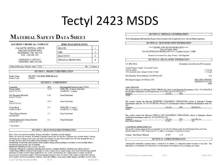 Tectyl 2423 MSDS