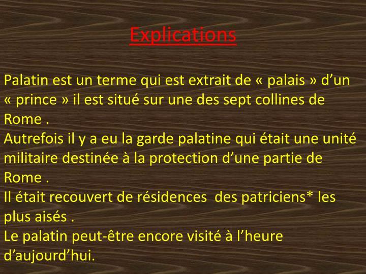 Explications