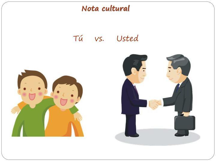 Nota cultural