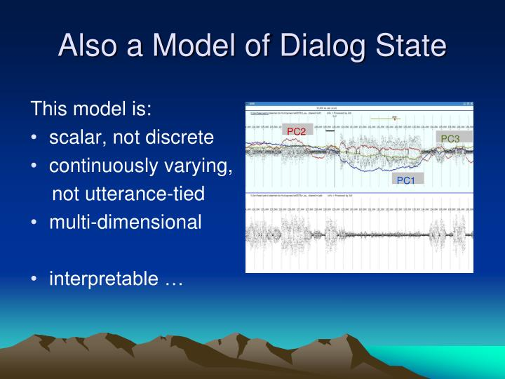 Also a Model of Dialog State