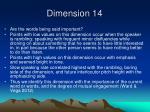 dimension 14