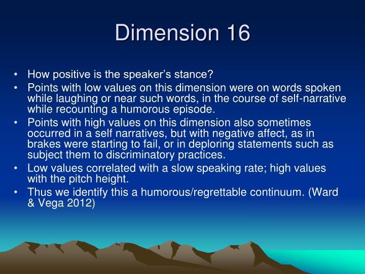 Dimension 16