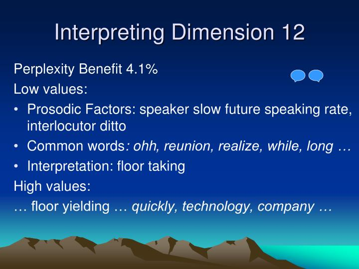 Interpreting Dimension 12