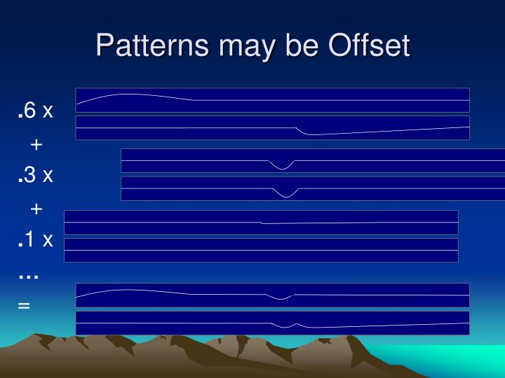 Patterns may be Offset