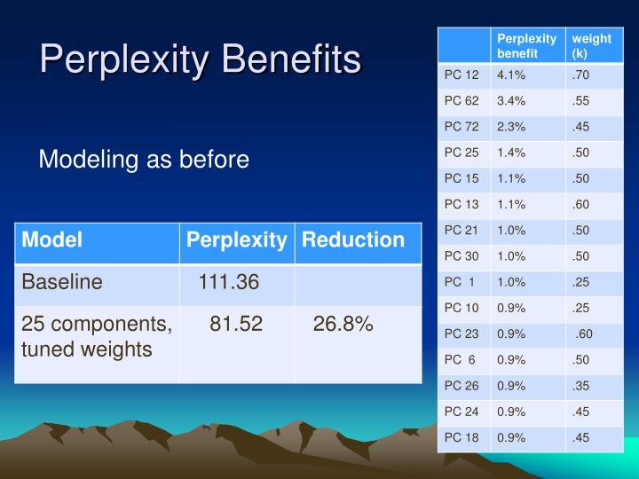 Perplexity Benefits