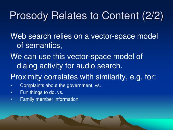 Prosody Relates to Content (2/2)