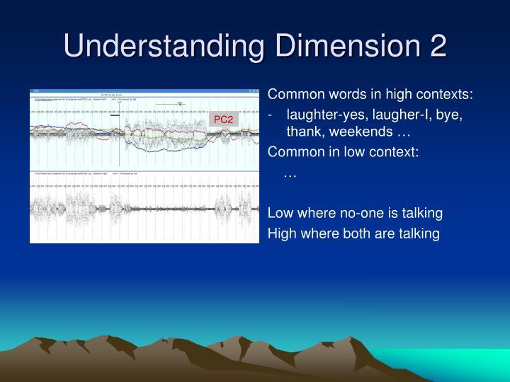 Understanding Dimension 2