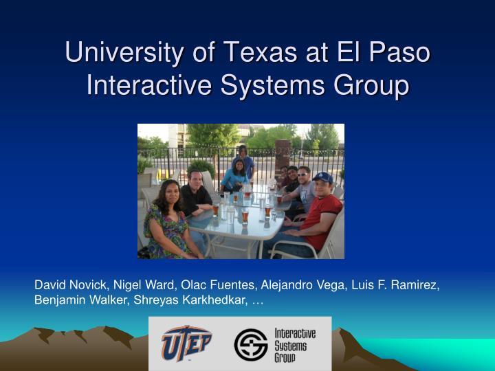 University of Texas at El Paso Interactive