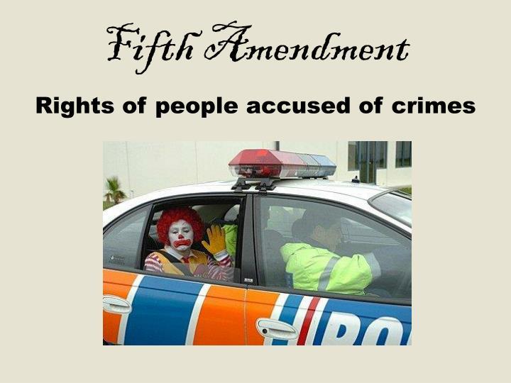 Fifth Amendment