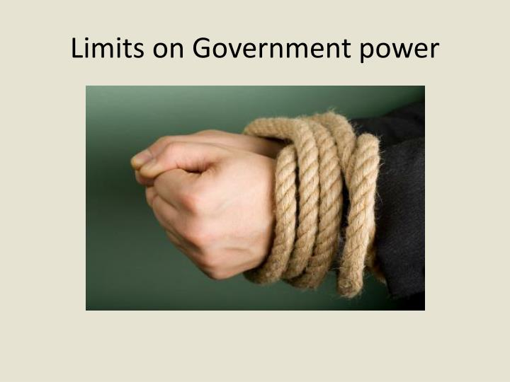 Limits on Government power