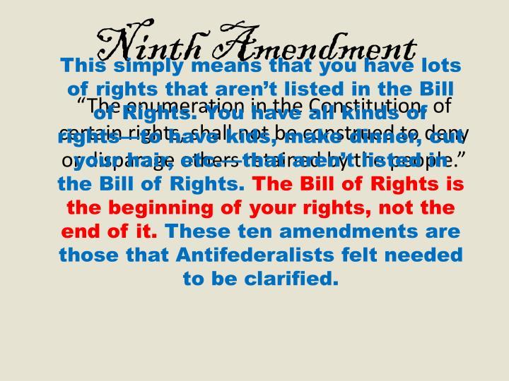 Ninth Amendment