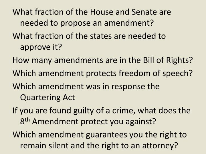 What fraction of the House and Senate are needed to propose an amendment?