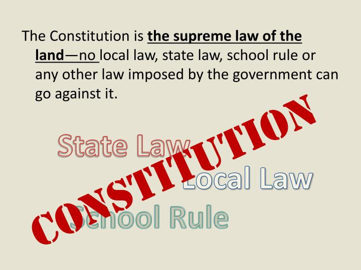 The Constitution is