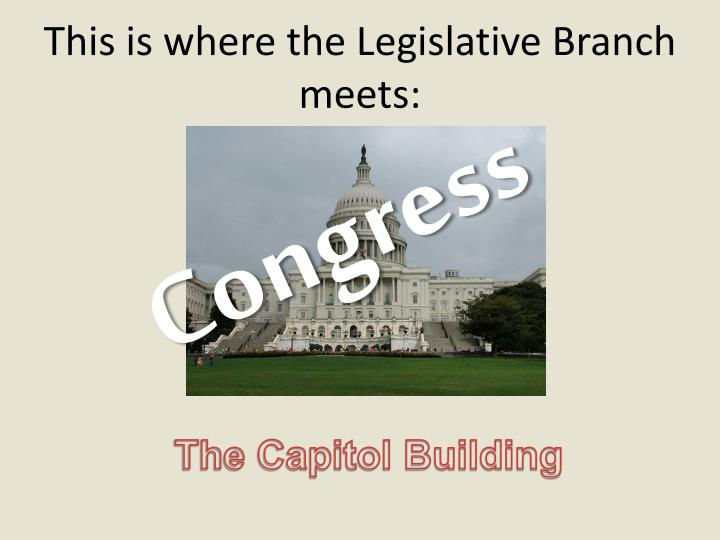 This is where the Legislative Branch meets: