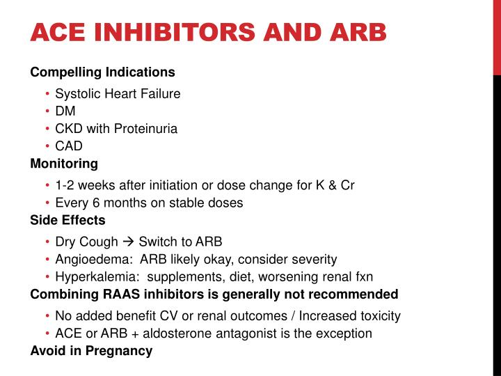 ACE Inhibitors and ARB