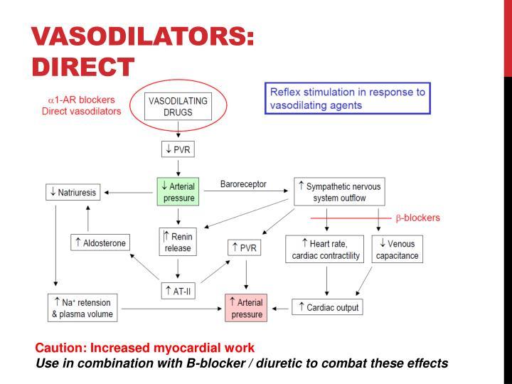 Vasodilators: direct