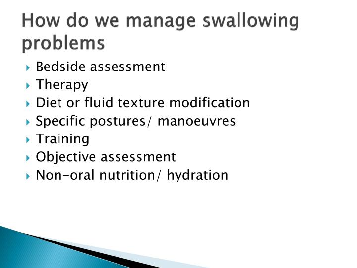 How do we manage swallowing problems