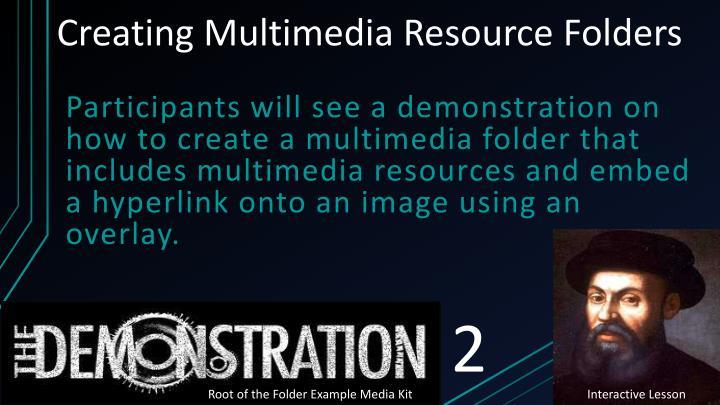 Creating Multimedia Resource Folders