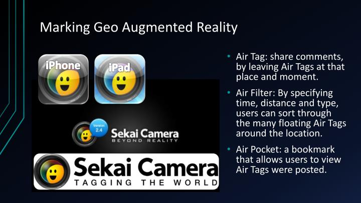 Marking Geo Augmented Reality