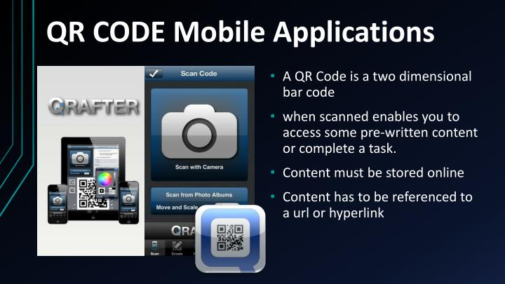 QR CODE Mobile Applications