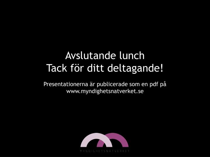 Avslutande lunch