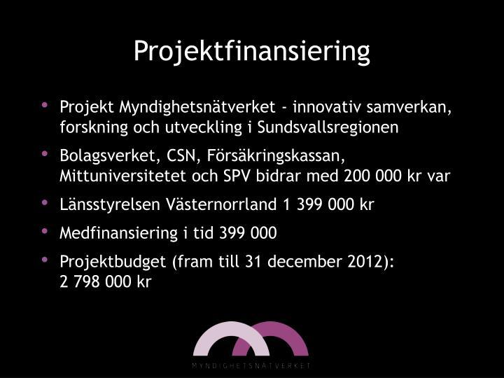 Projektfinansiering