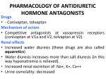 pharmacology of antidiuretic hormone antagonists