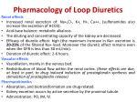 pharmacology of loop diuretics
