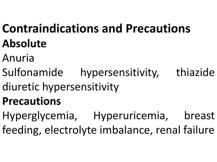 Contraindications and Precautions