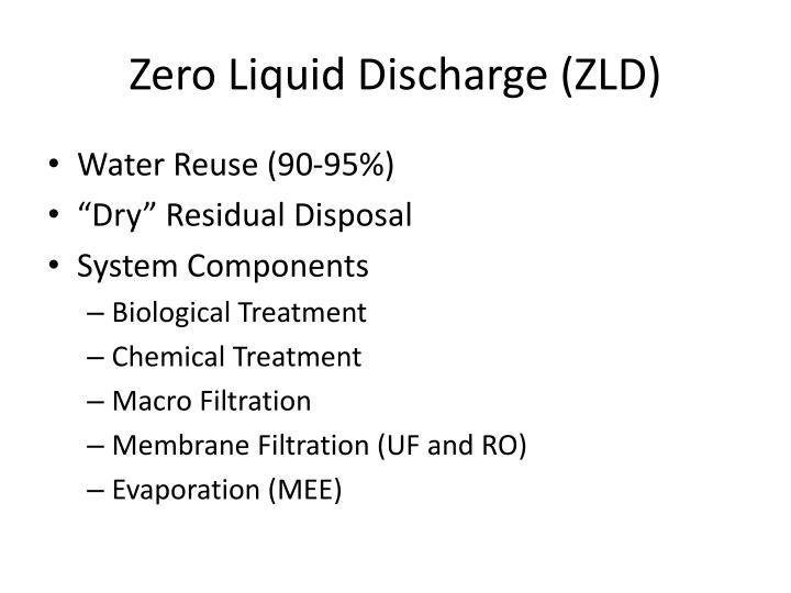 Zero Liquid Discharge (ZLD)
