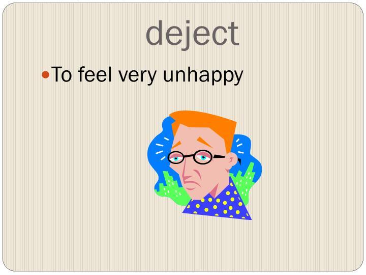 deject