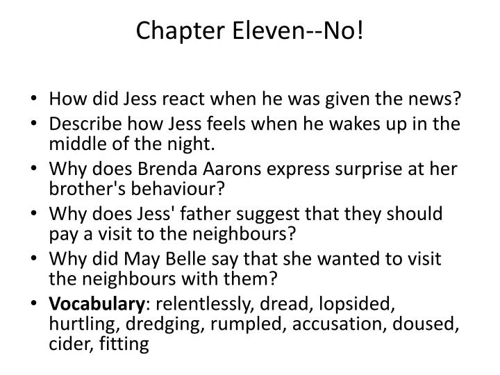 Chapter Eleven--No!