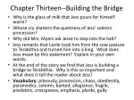 chapter thirteen building the bridge
