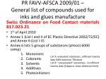 pr favv afsca 2009 01 general list of compounds used for inks and glues manufacture