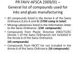 pr favv afsca 2009 01 general list of compounds used for inks and glues manufacturing