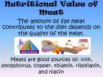 nutritional value of meat